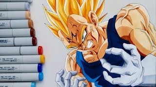 Drawing Majin VEGETA DBZ