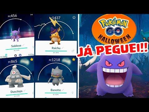 NOVA GERAÇÃO EM POKÉMON GO!!! - Evoluindo Shuppet, Duskull e Pikachu Halloween Hat!