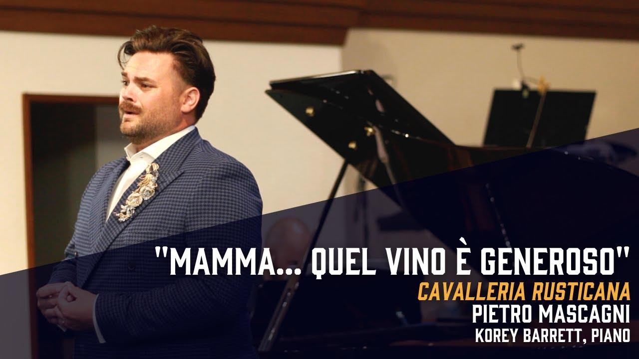 """""""Mamma!... quel vino è generoso"""" from Cavalleria rusticana (Mascagni) - Dane Suarez, tenor"""