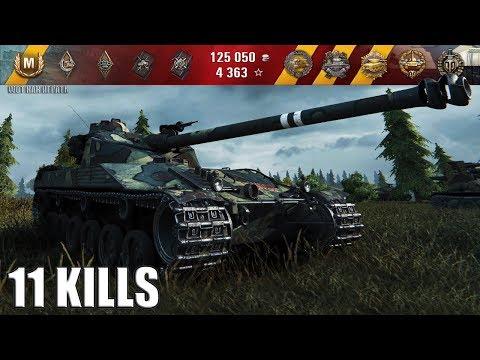 Bat.-Châtillon 25 t БЛИЖНИЙ БОЙ 11 ФРАГОВ 🌟🌟🌟 World of Tanks лучший бой wot батчат 25т
