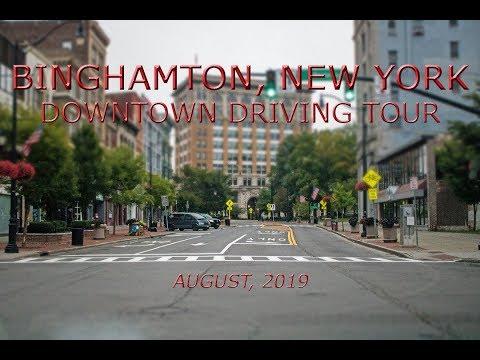 Binghamton, New York: Downtown Driving Tour (August, 2019)