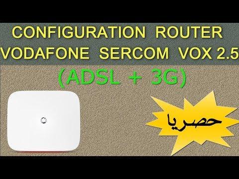 EP-14 CONFIGURATION ROUTER VODAFONE SERCOM VOX 2.5 ( ADSL + 3G ) | شرح حصري