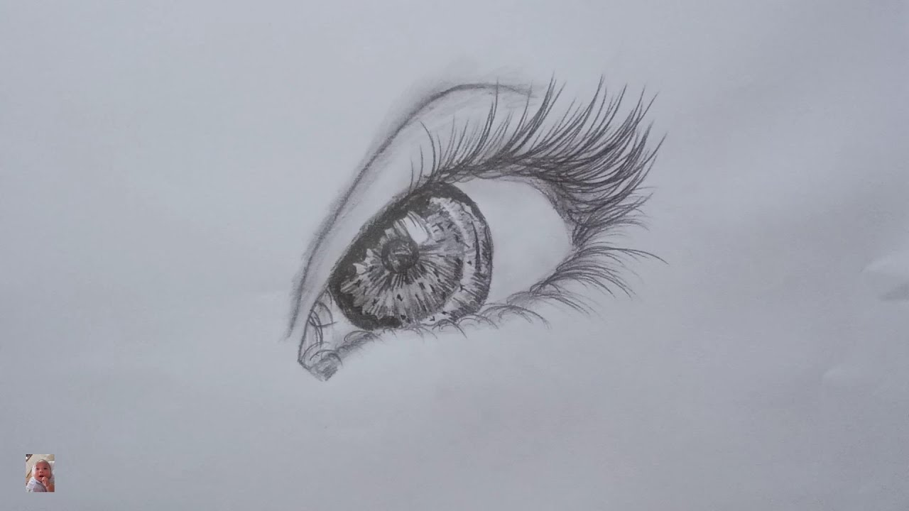 Vẽ mắt đẹp, vẽ bằng chì đơn giản mà đẹp – Draw beautiful eyes, pencil drawing simple but beautiful.