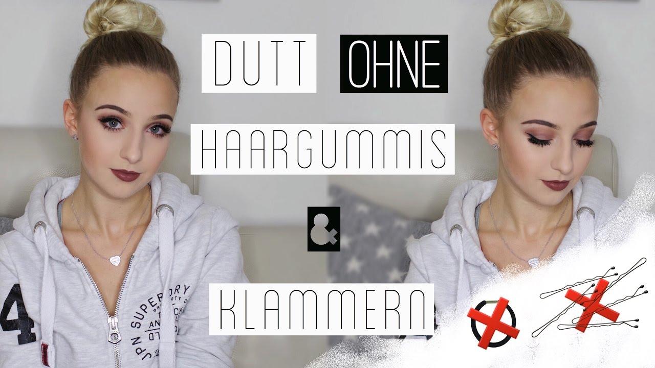 Dutt Ohne Haargummis Klammern Tutorial Sabrinamloves Youtube