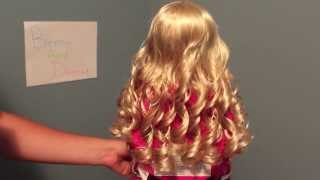 How To Curl Your American Girl Dolls Hairs With Curly Hair!
