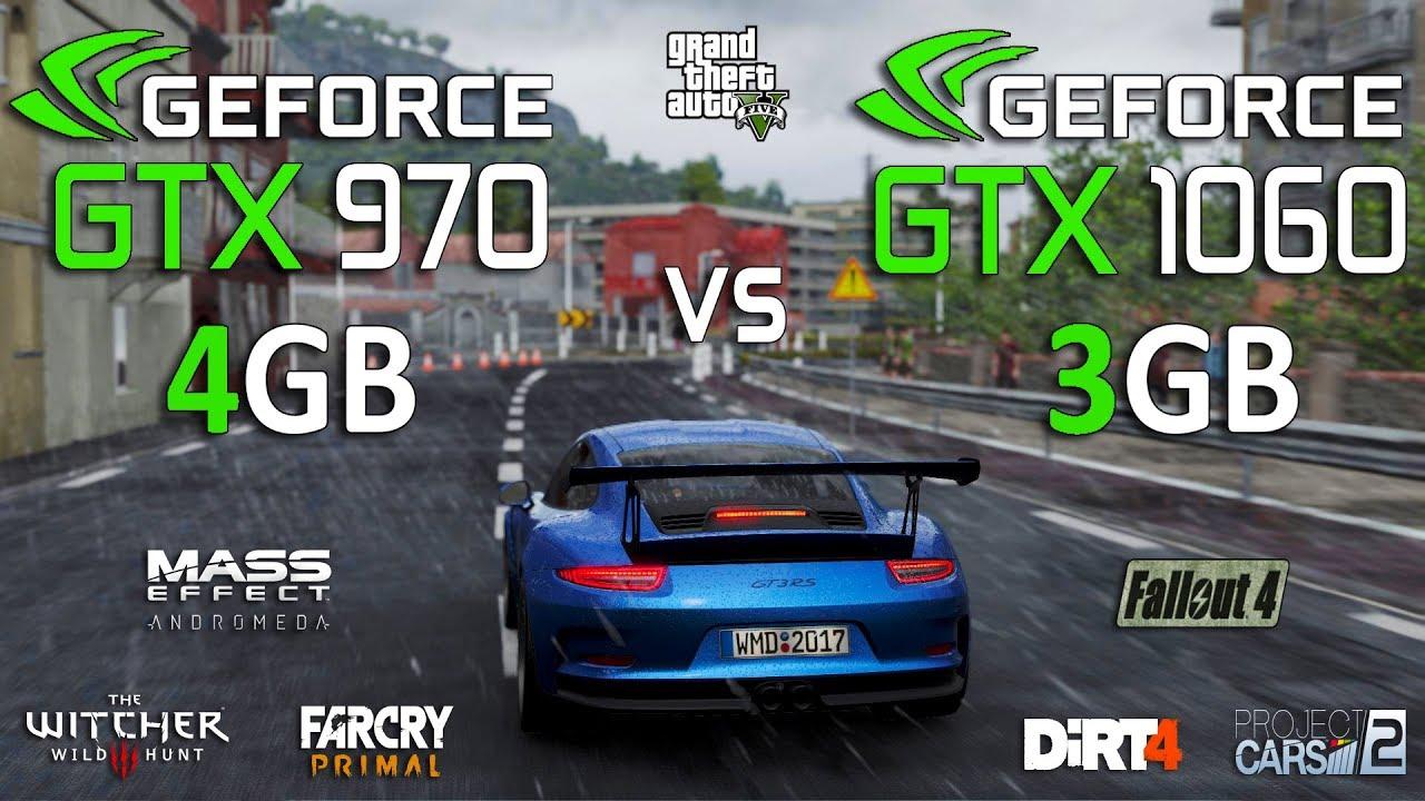 GTX 1060 3GB vs GTX 970 4GB Test in 7 Games