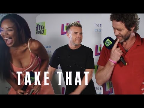 Take That test out their Floss dance skills backstage at Hits Radio Live | Hits Radio