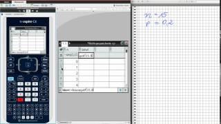 TI-nspire Binomialverteilung grafisch und mit Tabelle darstellen