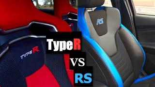 2016 Ford Focus RS vs Honda Civic Type R Interior - Inside Lane