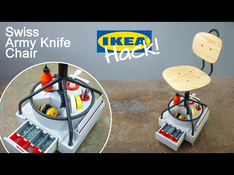 IKEA Hack - Building A Chair With Built In Storage!