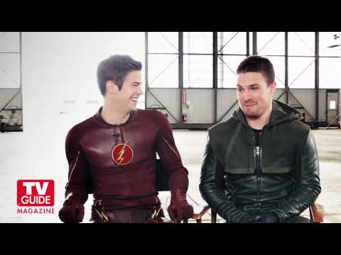 Arrow/The Flash Cover shoot with Stephen Amell and Grant Gustin