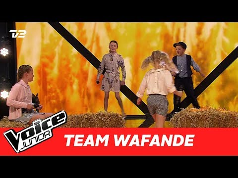 "Nikoline H, Merle, Joseph og Alisa (Team Waf) | ""Danmark"" af Gnags 