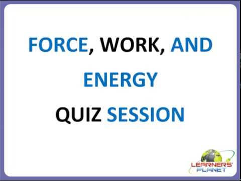 Class 4 Science Force Work And Energy Questions Answers