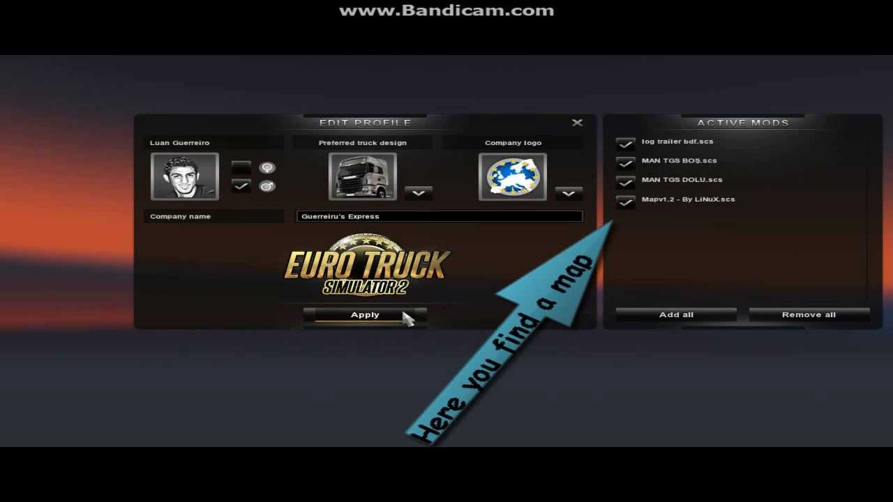 How to install v1.3 Euro Truck Simulator 2 - American Map (Danger Road) - YouTube