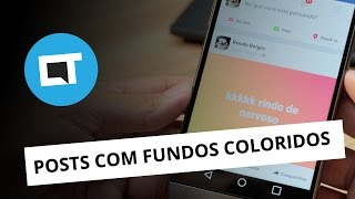 Como fazer posts com fundos coloridos no Facebook