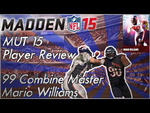 99 Combine Master Mario Williams MUT 15 Player Review | Madden 15 Ultimate Team Gameplay