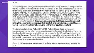 Duke adviser steps down over email sent to students