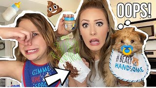 Treating Our PUPPY Like A REAL HUMAN BABY for 24 HOURS *GONE WRONG* 💩 🍼🐶