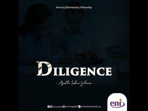 Diligence-Koinonia with Apostle Joshua Selman Nimmak