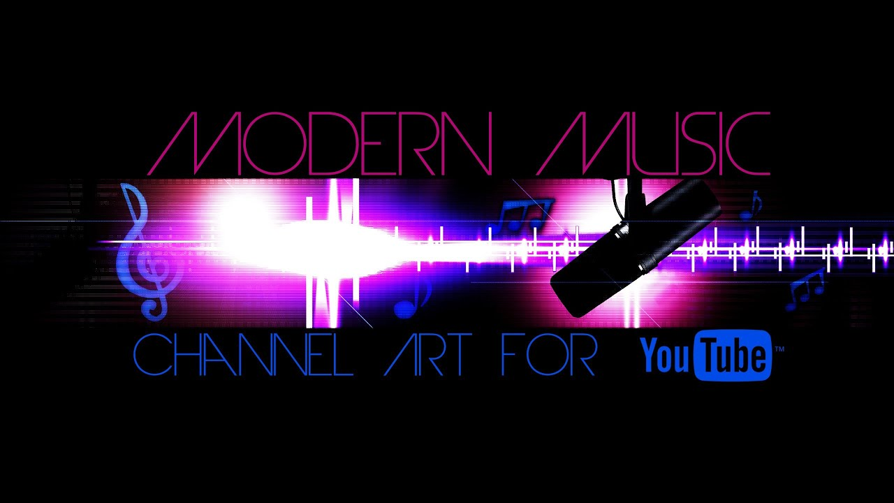 Modern Music Channel Art Template For Youtube Photoshop Psd Youtube