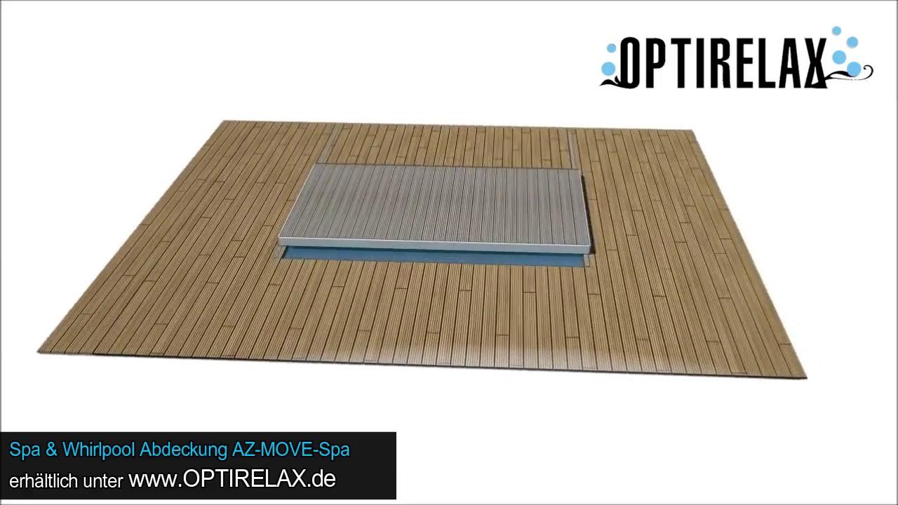 Whirlpool indoor eigenbau  Optirelax AZ-Move-Spa - Whirlpool & Spa Abdeckung - fahrbare ...