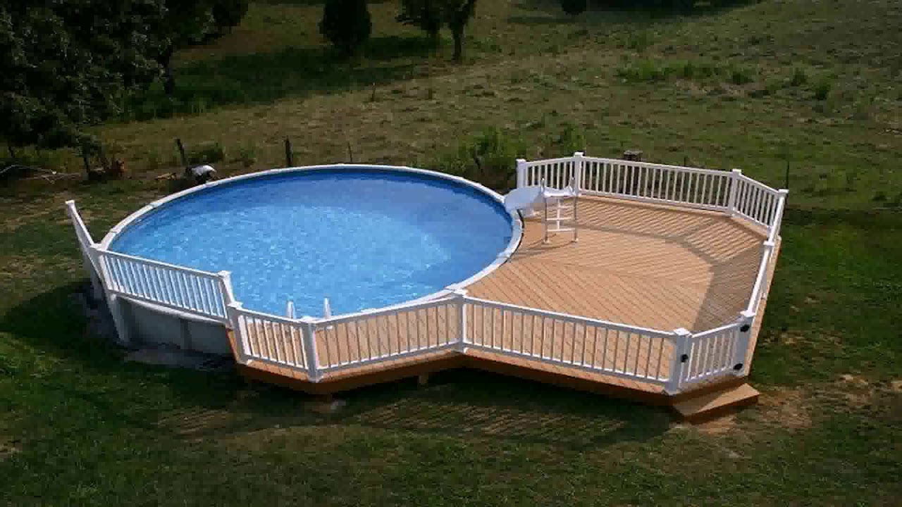 Above Ground Pool Deck Kits Wood Youtube