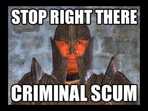 Oblivion: Stop right there criminal scum!