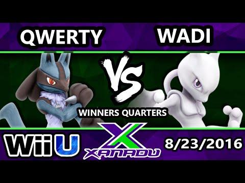 S@X 164 - Qwerty (Lucario) Vs. SS   WaDi (Mewtwo) Winners Quarters - Smash Wii U - Smash 4