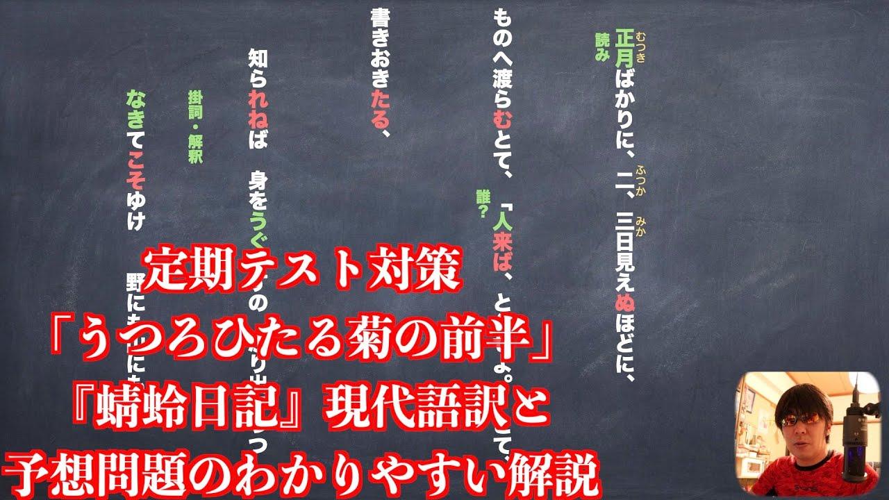 語 現代 訳 菊 ひたる うつろ