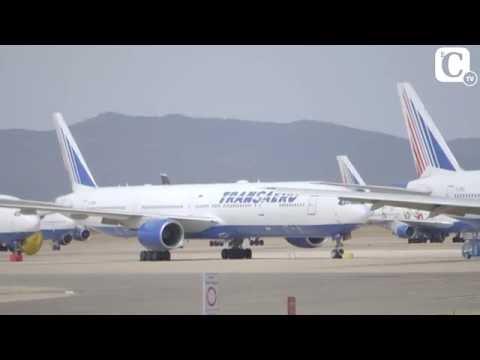 Aeropuerto de Teruel, el mayor parking de aviones de Europa