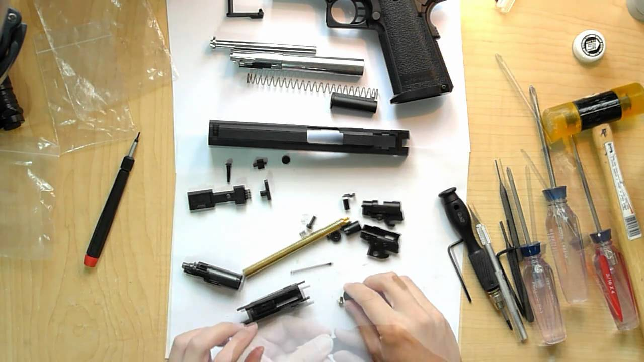 Tokyo Marui Hi Capa Complete Disassembly Youtube Here Is Another Exploded Parts Diagram With A List For The 1911