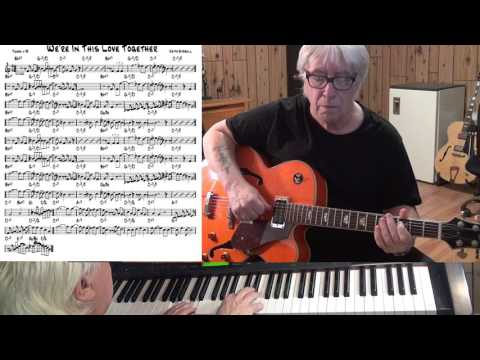 We're In This Love Together - Jazz guitar & piano cover ( Keith Stegall )