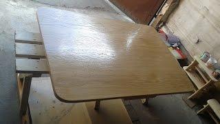 036. Odnowienie stołu - okleinowanie krawędzi blatu.