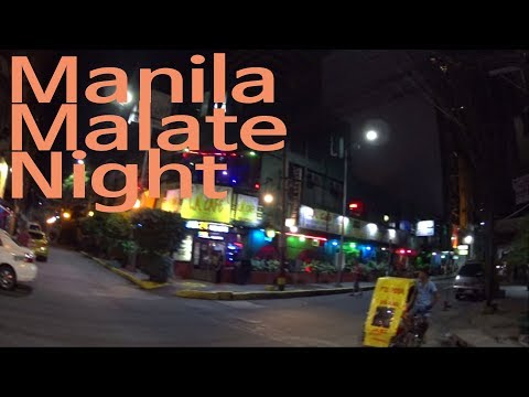 MANILA, LA CAFE, MALATE  STREET JUST WALKING AT NIGHT(PHILIPPINE 2017)(필리핀 마닐라 말라테)