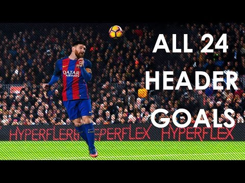 Lionel Messi All 24 Header Goals In Career