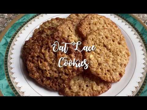 Oat Lace Cookies | Easy Healthy Cookie Recipe | Quarantine/Lockdown Snacks | Wooed By Food