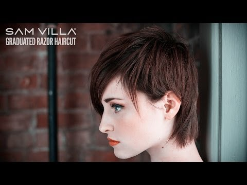 Short Razor Haircut Tutorial - How To Create Scattered Graduation & Texture