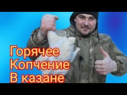 КУРИЦА ГОРЯЧЕГО КОПЧЕНИЯ  В КАЗАНЕ по СИБИРСКИ. #курица #рецепт #блюдо #СаняСибиряк
