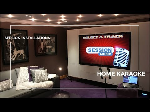 Private Home Karaoke Touch Screen Installation