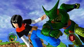 Dragonball Z Raging Blast 2 - Cell 1st form vs Android 17 & 18