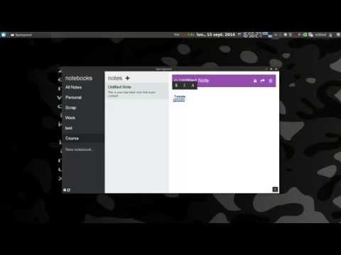 Présentation de Springeed logiciel de note opensource (alternative evernote)