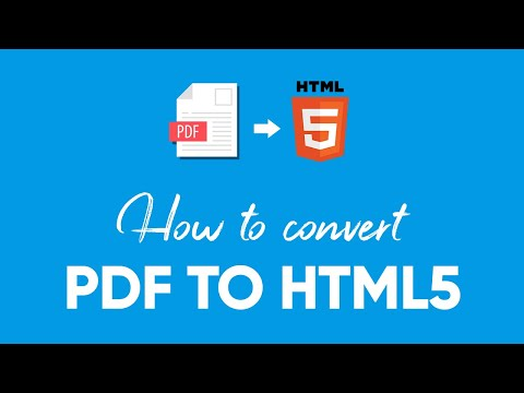 How To Convert PDF To HTML5 | Flipsnack.com