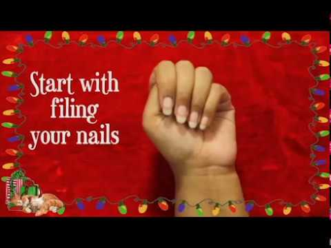 My Christmas Nail Art Simple Diydo It Yourself Video Youtube