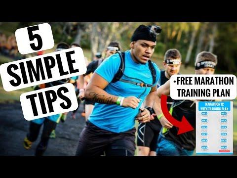 5 Simple Training Tips For Your First Marathon + Printable 12 Week Marathon Training Plan