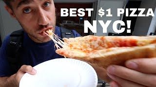 BEST $1 PIZZA in New York City CHALLENGE! | DEVOUR POWER