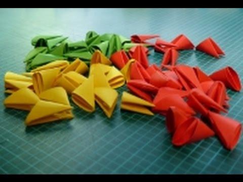 Origami Blaetter , 3d Origami Modul Toturial Deutsch 3d Origami Pieces Tutorial