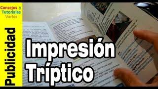 Cómo hacer un tríptico (3) Impresión del tríptico y sus resultados