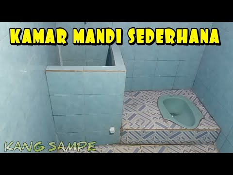 Desain Kamar Mandi Sederhana Kloset Jongkok Youtube