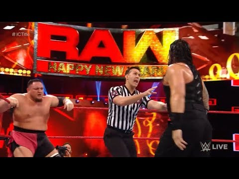 WWE RAW 1/22/18 Roman Reigns vs. Samoa Joe - WWE RAW January 1 2018