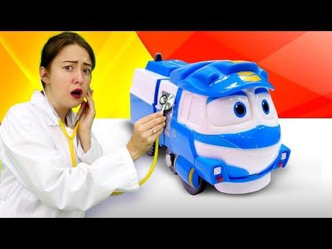 Развивающее видео для малышей: Карантин в городе игрушек из мультика Роботы Поезда!!
